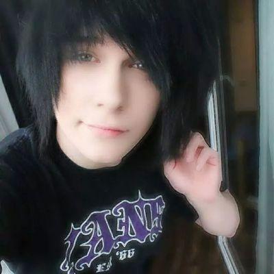 Emo teen boy models