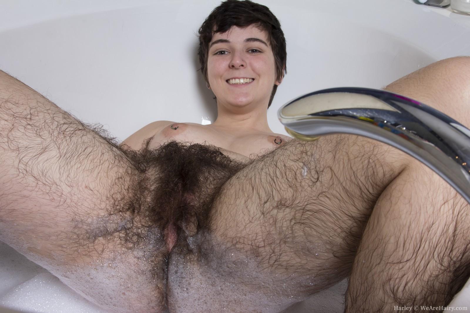 Very hairy pussy women