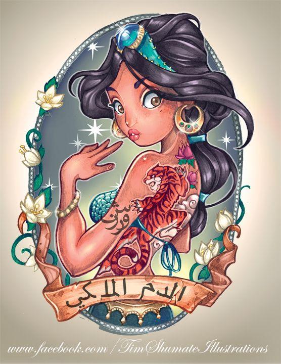 Jasmine disney princesses tattoos