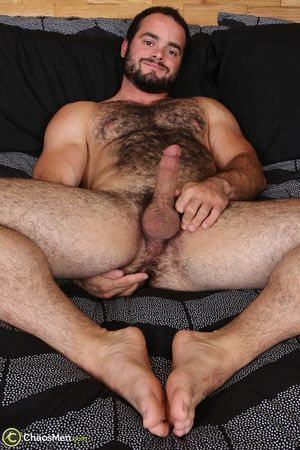Man nude hairy ass