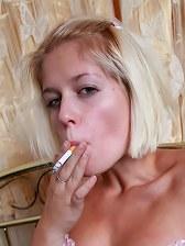 Drunk girl tits smoking