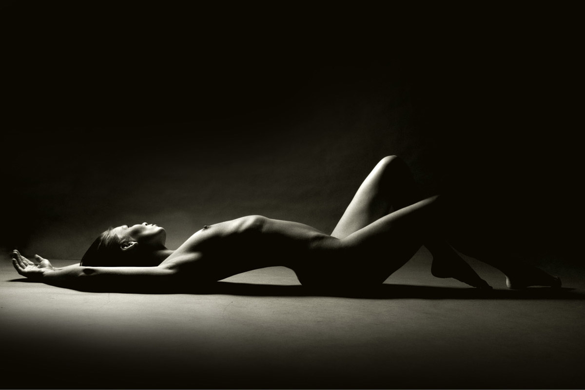 Black and white artistic nude photography