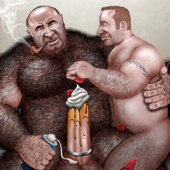 Big men bear sex