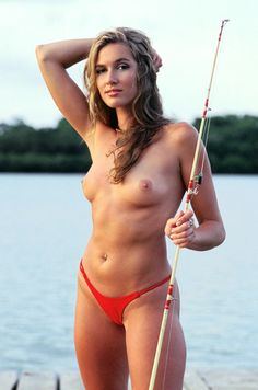 Porn beautiful woman fishing nude