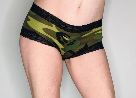 Camo panties on wife pics