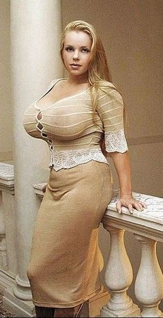 Big boobs sexy girl in gown