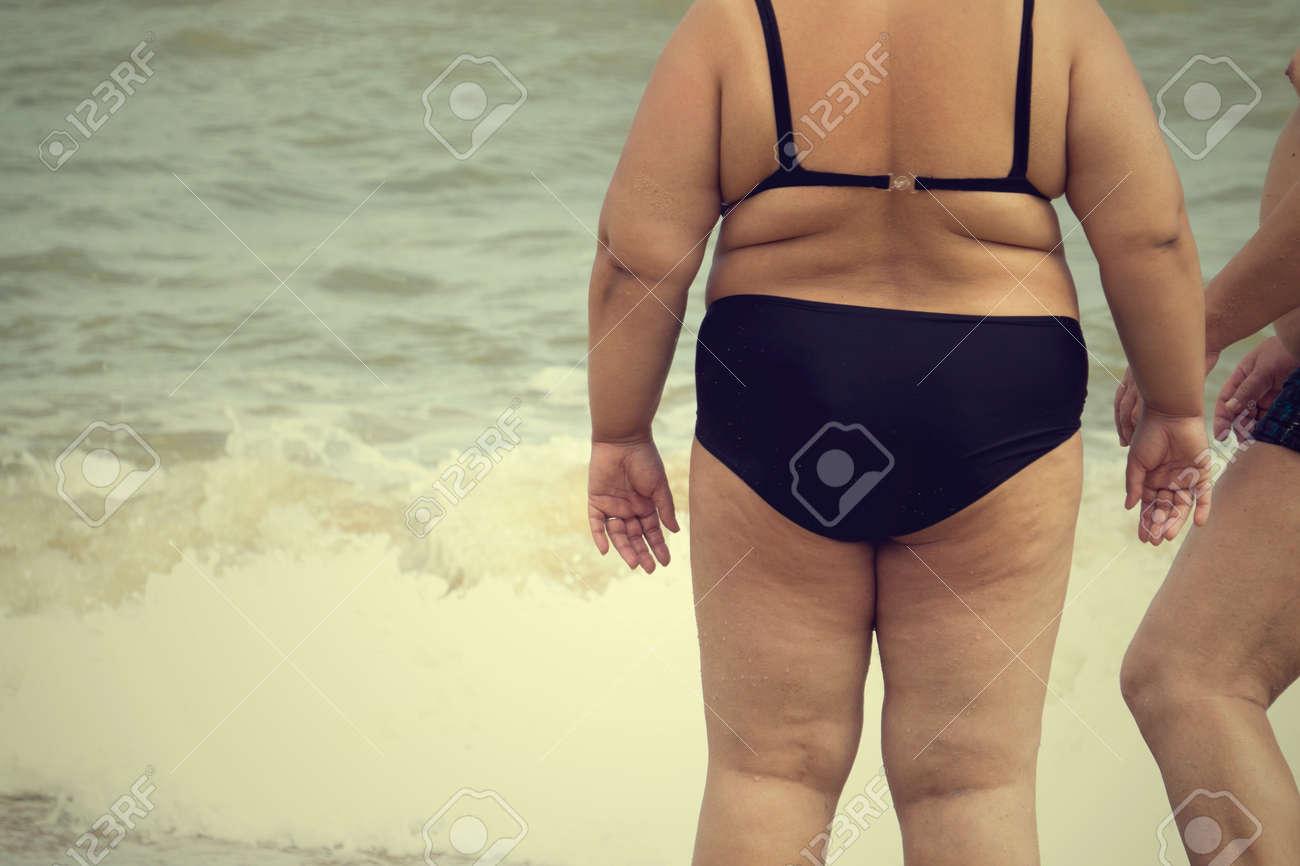 Fat cellulite bikini butts