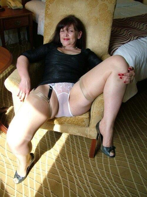 Mature women spreading legs