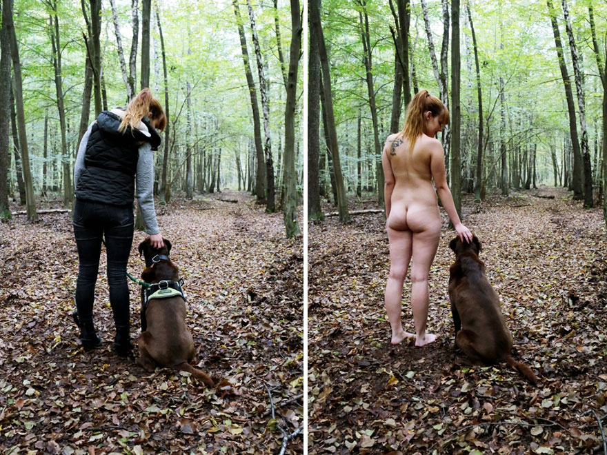 Ordinary people clothed and nude
