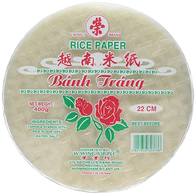 Asian market rice paper wrappers