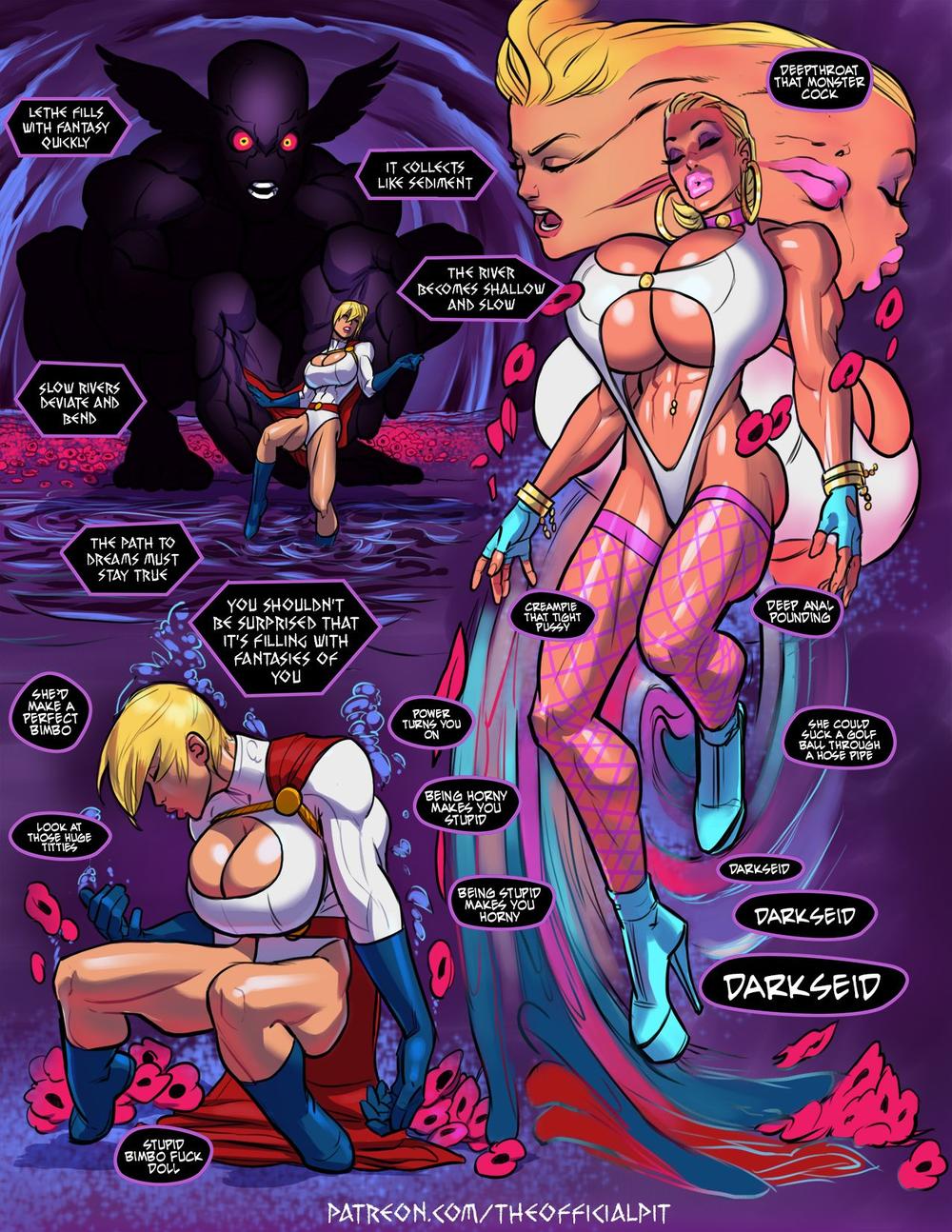Powergirl lesbian porn comics