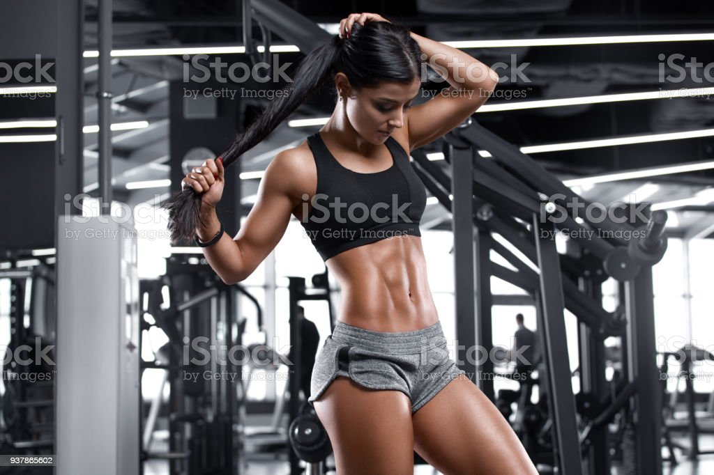 Sexy muscle girls gym hot