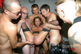 Gang bangers peeing nude