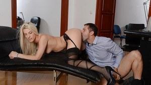 White woman licking black ass