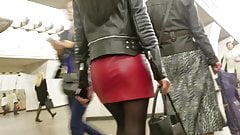 Sexy ass in leather skirt xxx