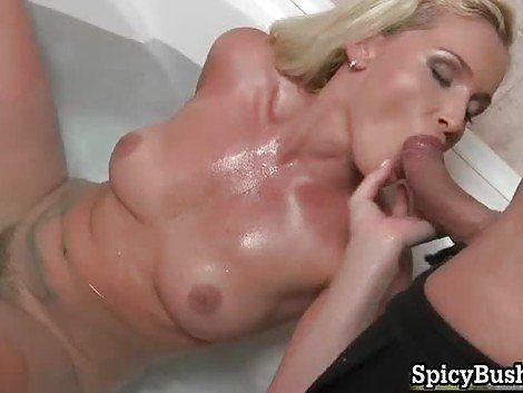 Beautiful naked blondes giving head
