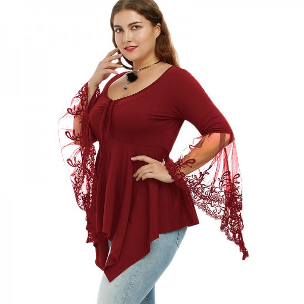 Sexy top for plus size woman