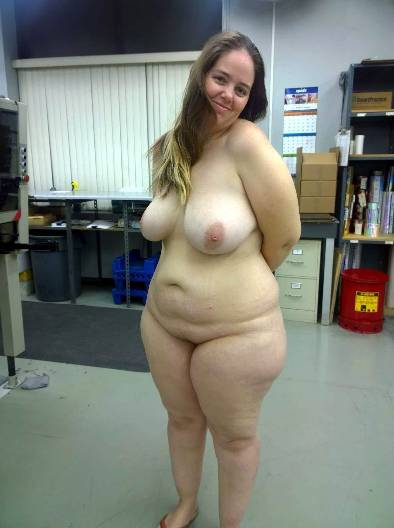 Shy chubby busty girl