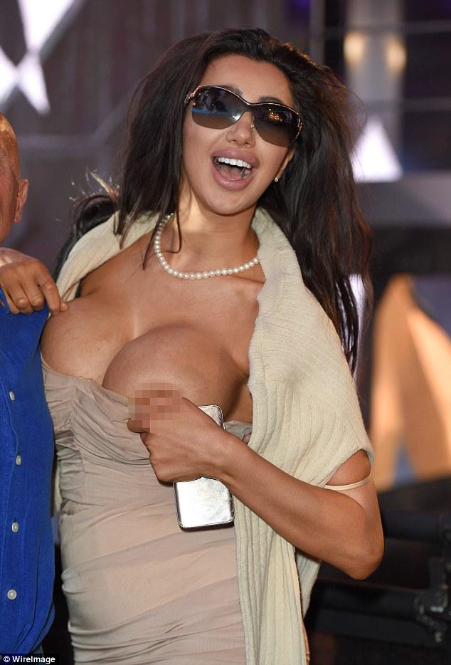 Big nipple slip oops