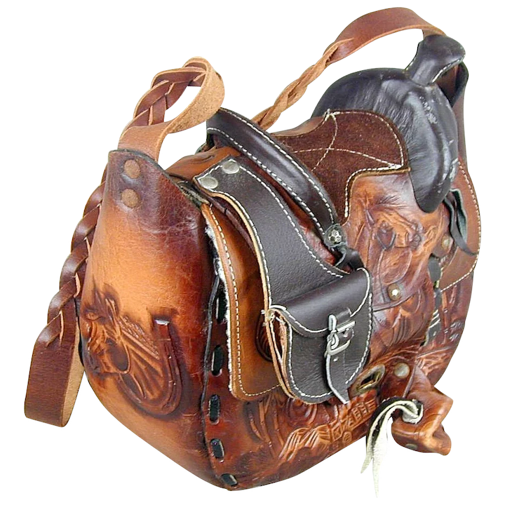Vintage western leather saddles