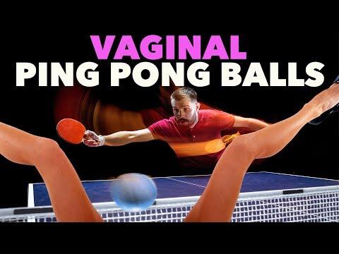 Vaginas shooting ping pong balls