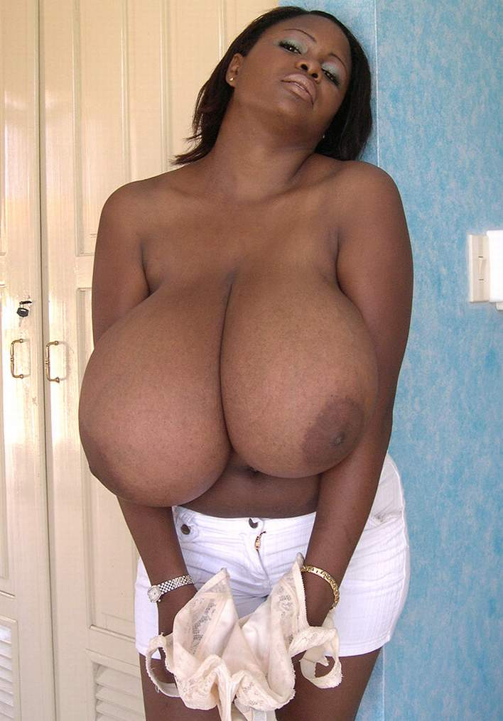 Naked in the world biggest natural tits