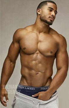 Muscular chocolate men naked