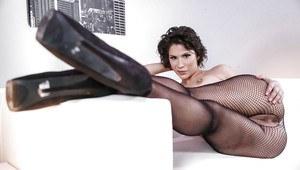 Mistress domination whip feet stockings slave