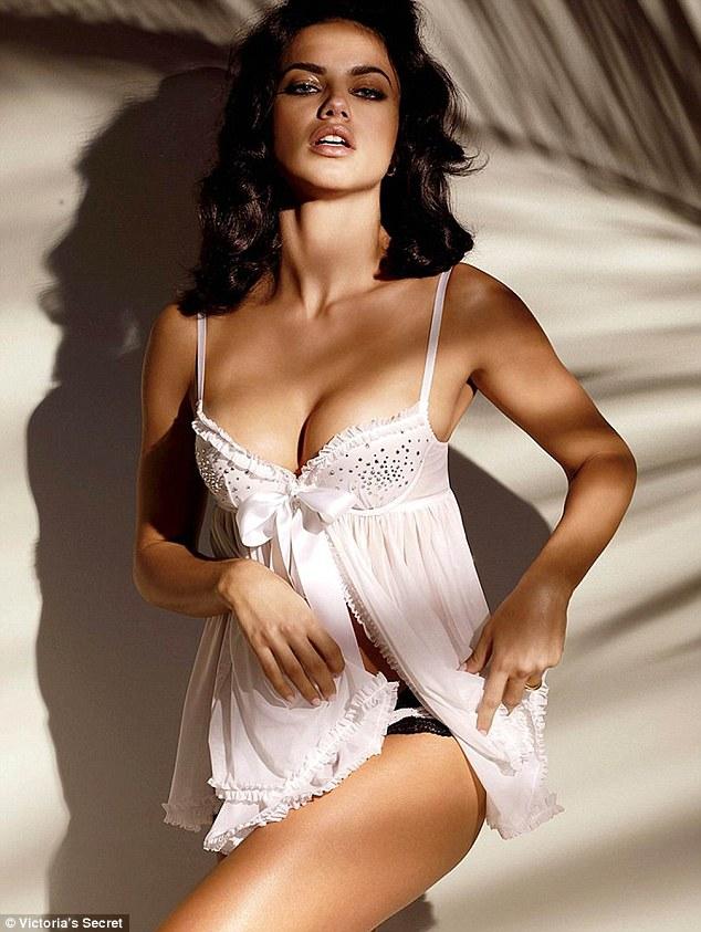 Adriana lima white lingerie