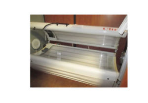 Tanning bed white strip