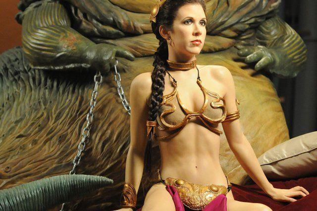 Carrie fisher snl gold bikini