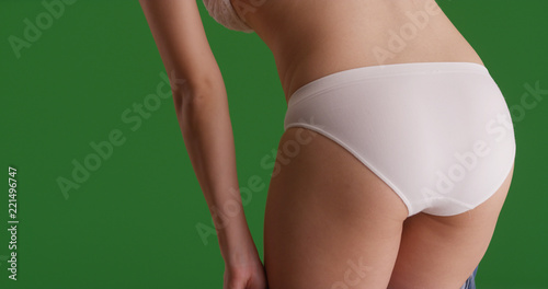 Girl asses bent over panties