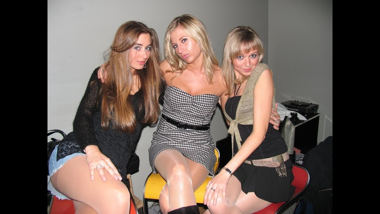 College party girls pantyhose