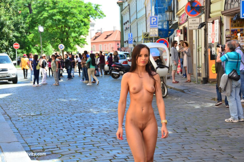 Naked on public streets