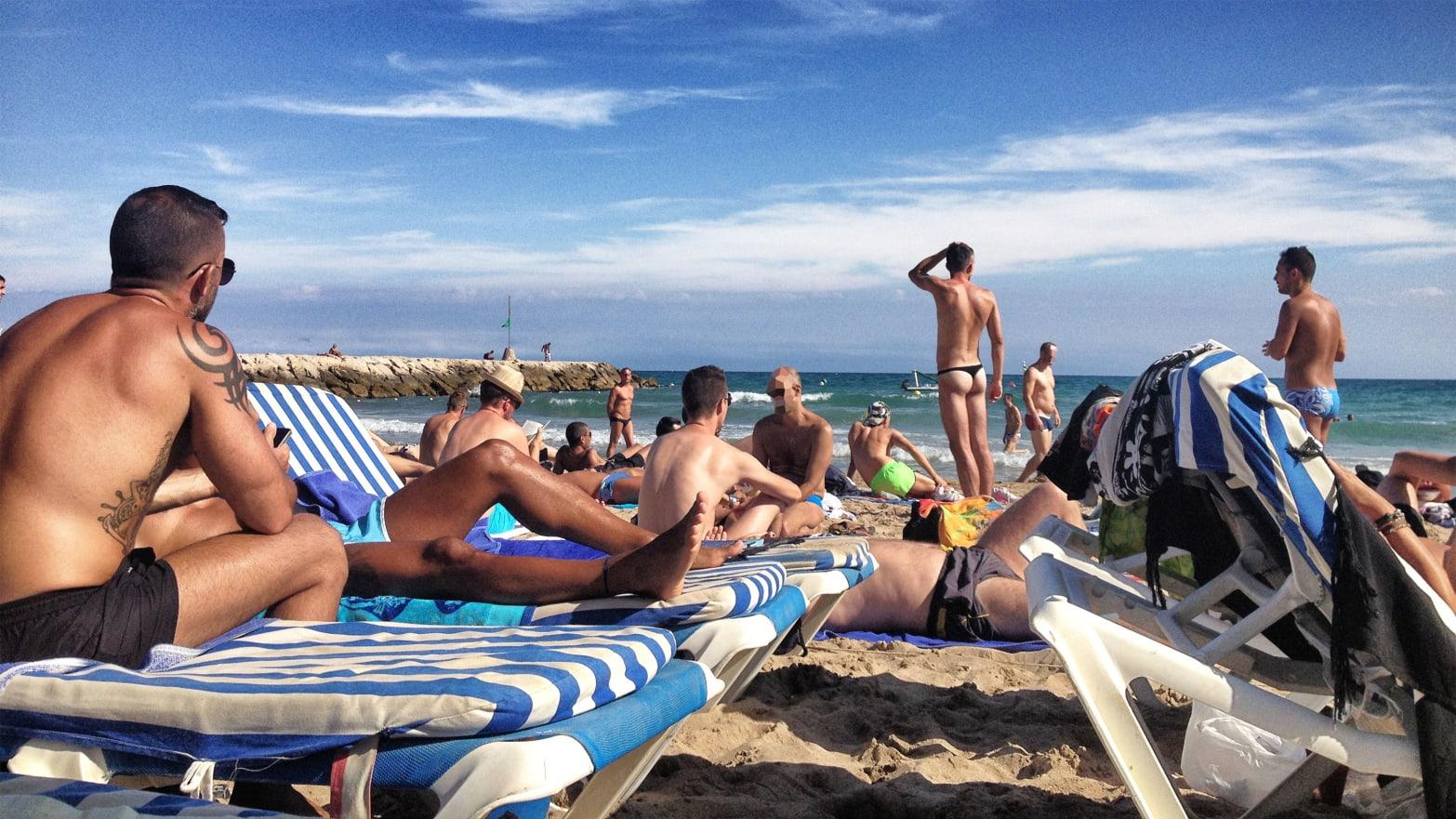 Beach group sex cum