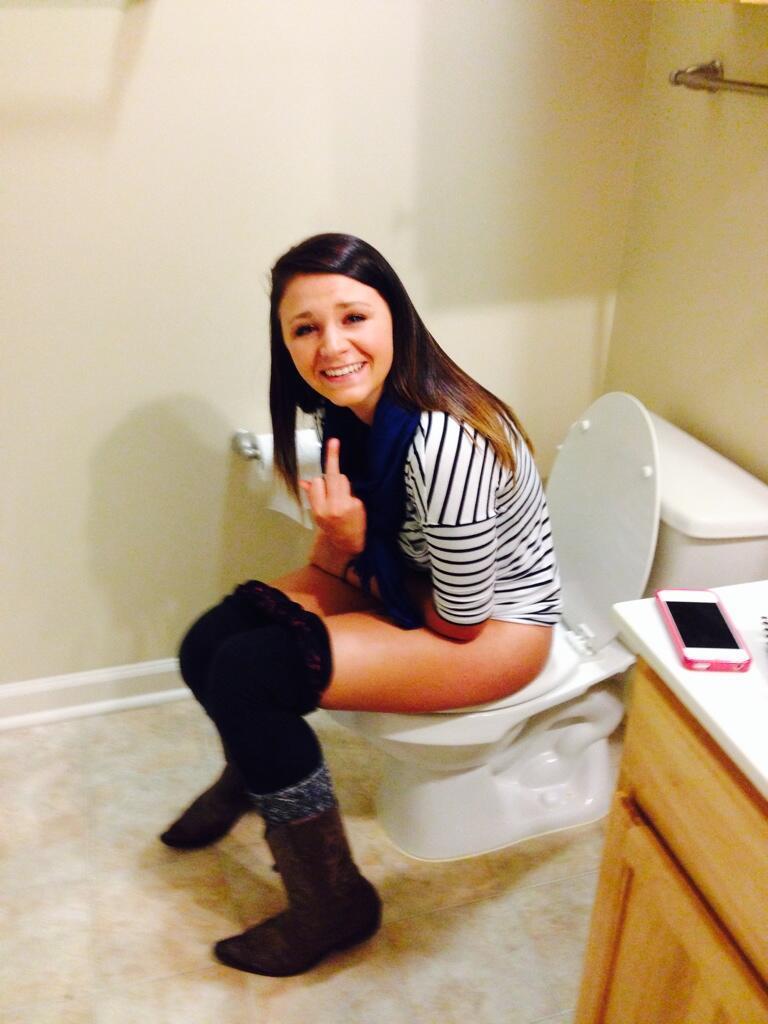 Girls caught peeing on toilet tumblr
