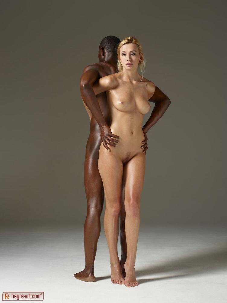 Nude men women black and white
