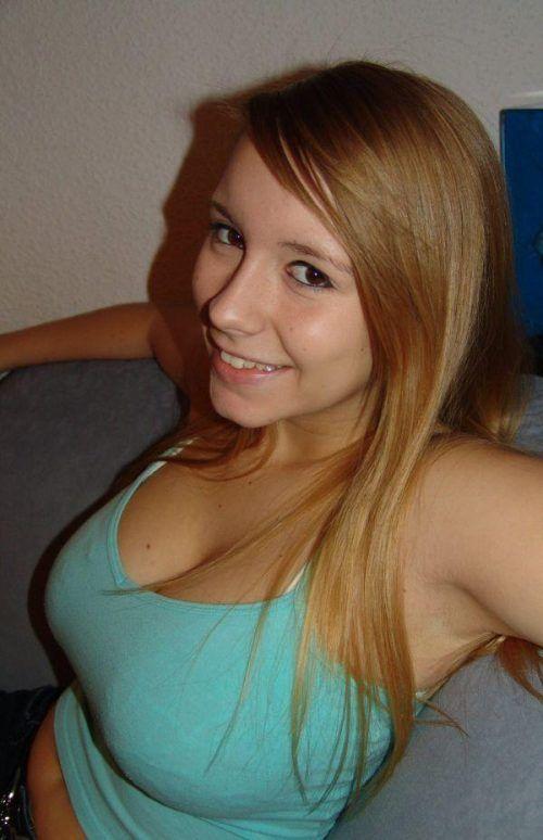 Short hair busty teen