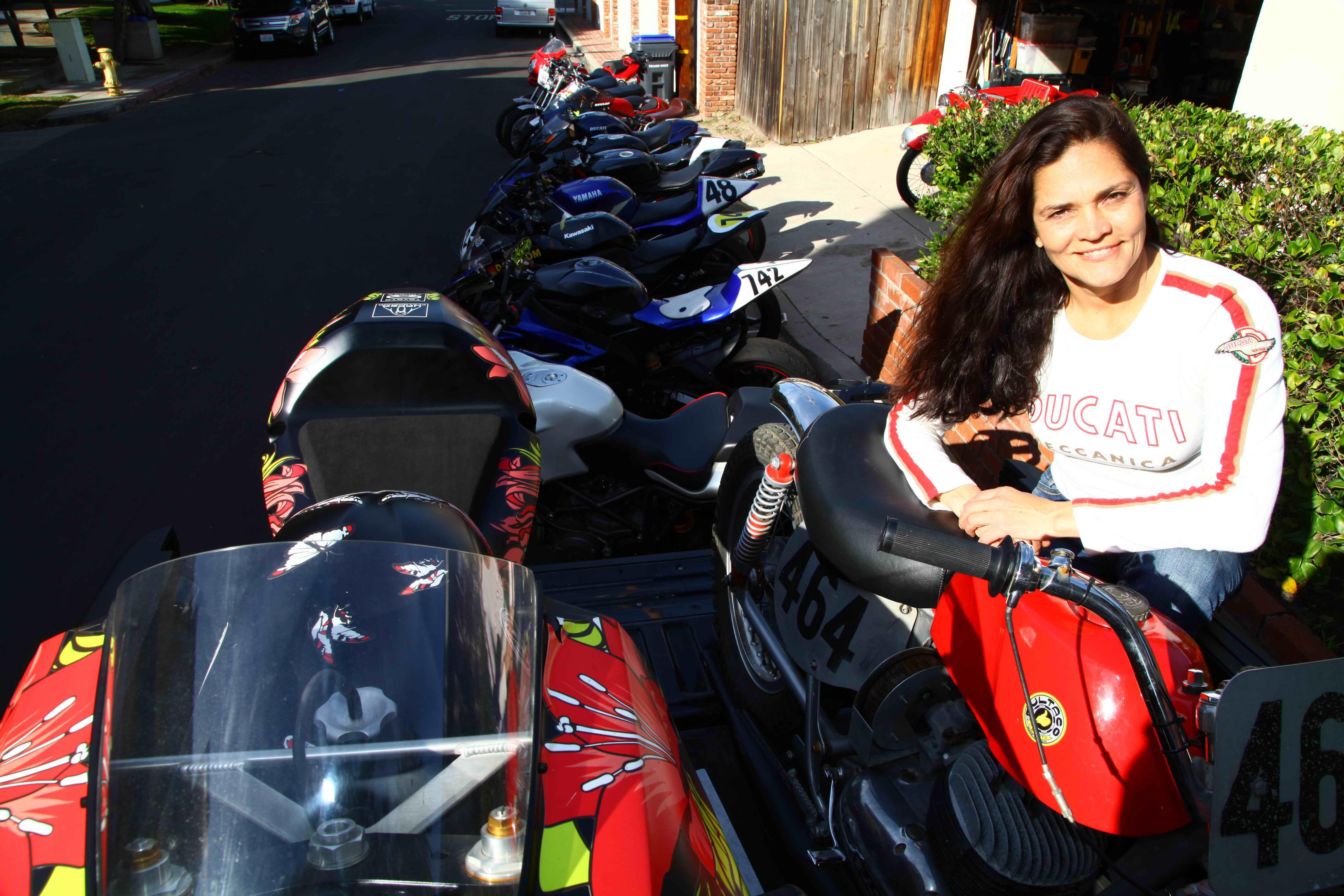 Sofi met art motorcycle