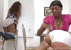 Old men spanking black girls