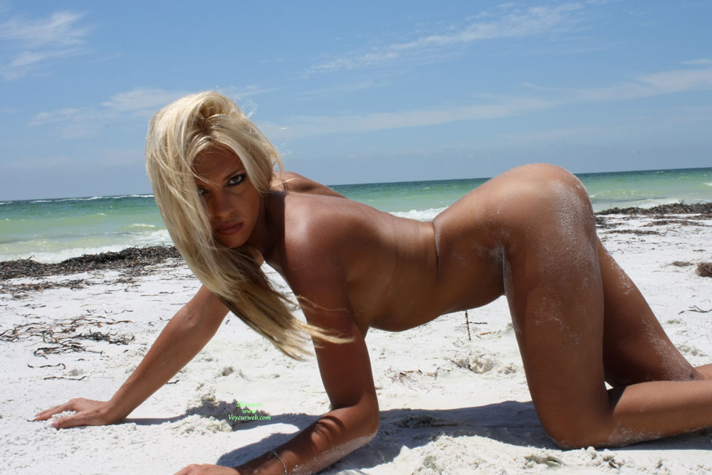 Hot blonde girls nude on beach