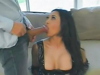 Big tits huge cock blowjob