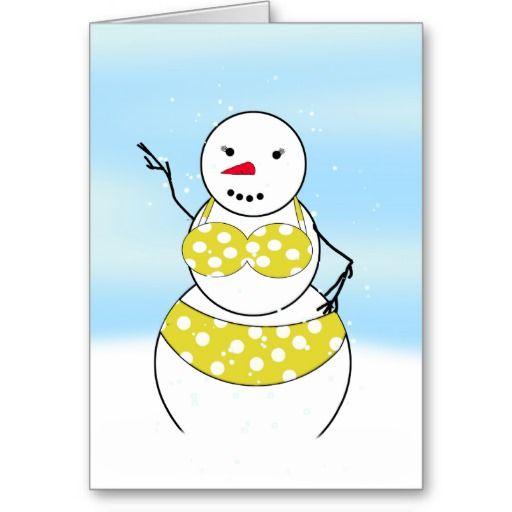 Christmas greeting cards girls in bikinis