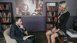Suspenders stockings and heels