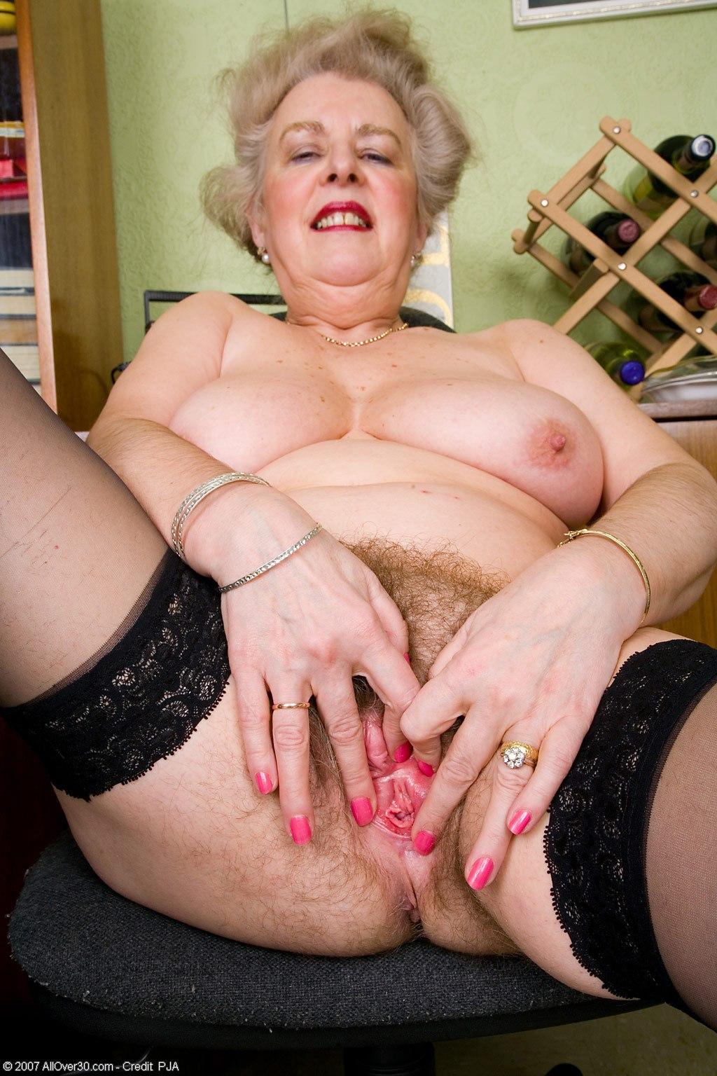 Hairy granny busty naked