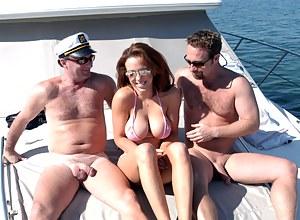 Big huge tits on boats