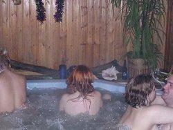 Swinger hot tub sex party