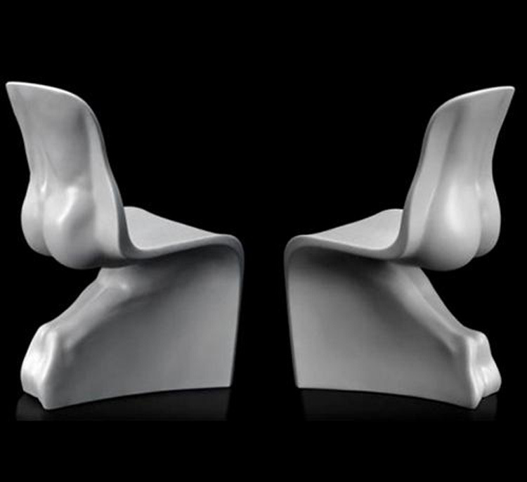 Black and white sex chair