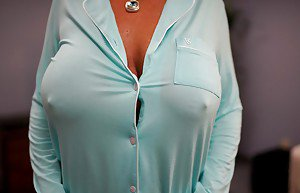 Sexy blonde secretary glasses