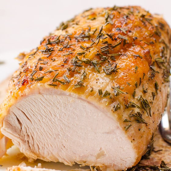 Oven baked turkey breast